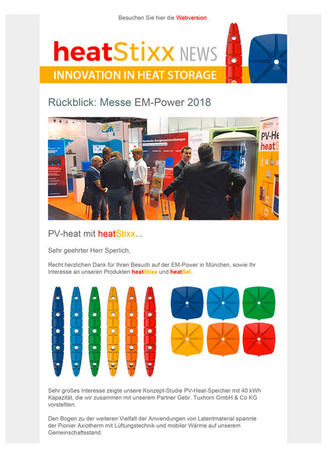 heatStixx Rueckblick Messe EM Power 2018
