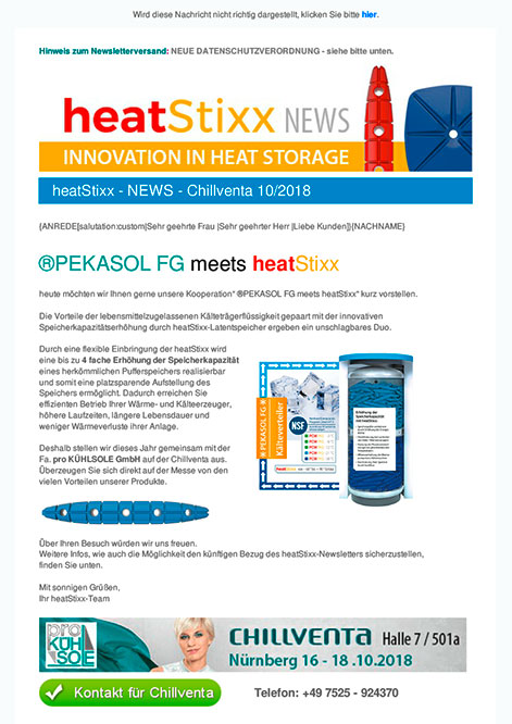 heatStixx News Rueckblick Chillventa 2018